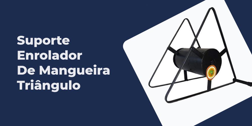Suporte Enrolador De Mangueira Triangulo