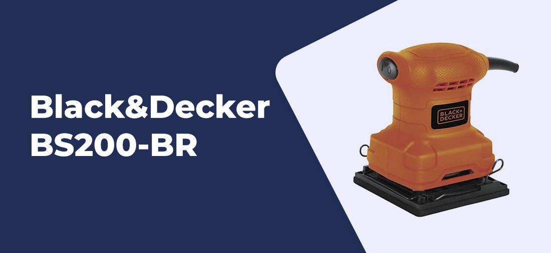 lixadeira orbital Black e Decker BS200-BR