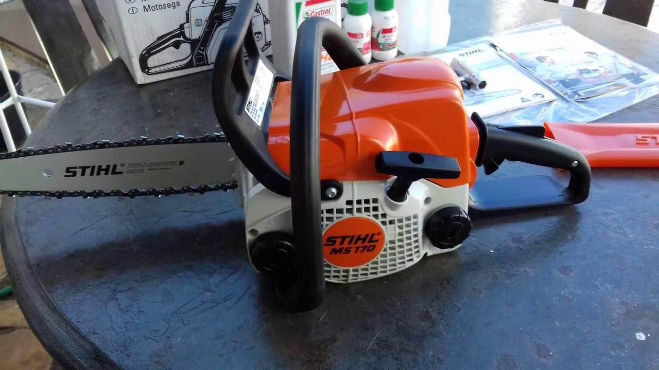 Como regular o óleo da corrente da motosserra Stihl